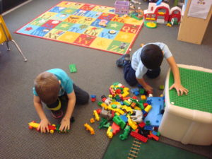 West Valley preschool student working at his social and emotional level
